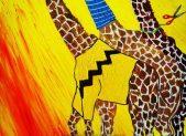 TRIONFO GIRAFFOIDE - 2014 acrilico su tela 40x50