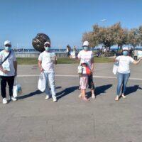 Volontari de La via della felicità a Pesaro